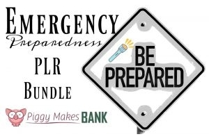 The world gets scarier every day. Help your readers prepare for natural disasters and other emergencies with this emergency preparedness PLR pack..