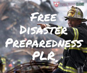 Disaster Preparedness PLR – Free!