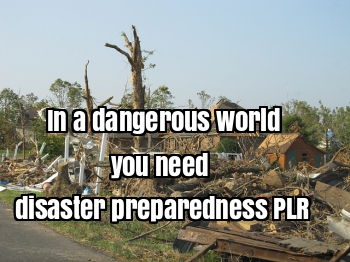 In this dangerous world, everyone needs to be a prepper.  Using disaster preparedness PLR can help you advise your readers on how to keep themselves and their families safe.