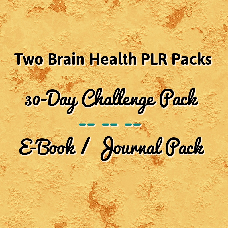 Two Brain Health PLR Packs – A 30-Day Challenge and an E-Book Pack